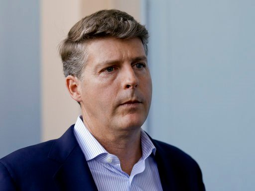 (AP Photo/John Raoux, File). FILE - In this Nov. 15, 2017, file photo, Hal Steinbrenner, general managing partner of the New York Yankees, talks with reporters at the annual MLB baseball general managers' meetings in Orlando, Fla. Steinbrenner says the...