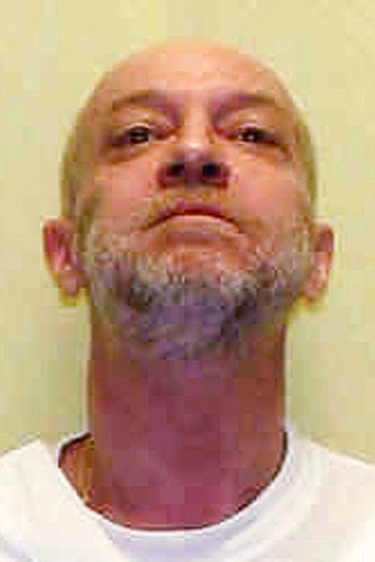 (Ohio Department of Rehabilitation and Correction via AP, File). FILE – This undated file photo provided by the Ohio Department of Rehabilitation and Correction shows death row inmate Raymond Tibbetts, convicted of fatally stabbing Fred Hicks in 1997 i...