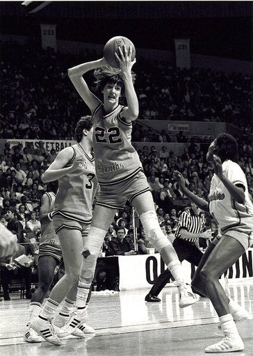 (The Virginian-Pilot via AP, File). FILE - In this file photo, date not known, Old Dominion's Anne Donovan grabs the ball during a basketball game. Donovan, the Basketball Hall of Famer who won a national championship at Old Dominion, two Olympic gold ...