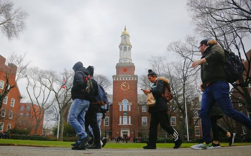 (AP Photo/Bebeto Matthews, File). FILE - In this Feb. 1, 2017, file photo, Brooklyn College students walk between classes on campus in New York. More than two-thirds of college students at all levels said in a survey that they feel stressed about their...