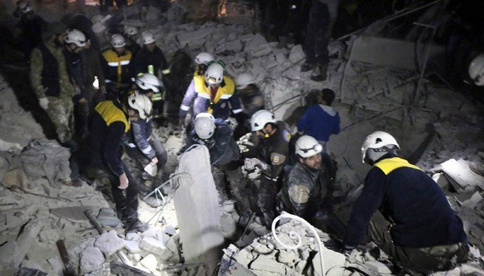 President Trump authorized $6.6 million in support of the White Helmets, a Syrian civil defense organization. (Source: Syrian Civil Defense White Helmets via AP)
