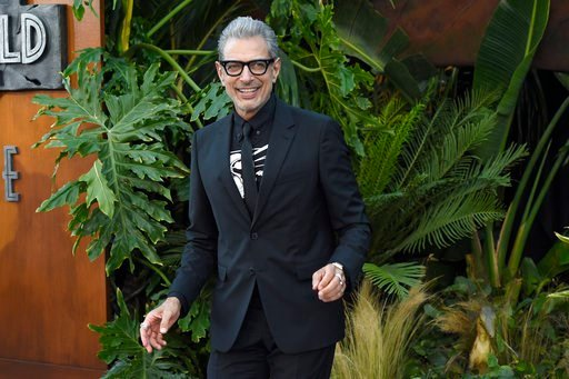 "(Photo by Chris Pizzello/Invision/AP). Jeff Goldblum arrives at the Los Angeles premiere of ""Jurassic World: Fallen Kingdom"" at the Walt Disney Concert Hall on Tuesday, June 12, 2018."