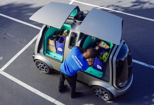(Andrew Brown/The Kroger Co. via AP, File). FILE- This undated photo provided by The Kroger Co. shows a driverless car that the Cincinnati-based company is about to test whether it can steer supermarket customers away from crowded grocery aisles with a...