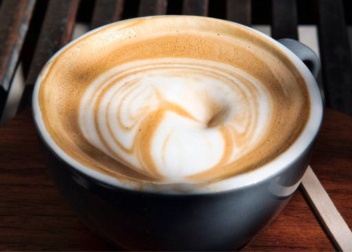 (AP Photo/Richard Vogel). This Thursday, March 29, 2018 photo shows a cup of coffee at a cafe in Los Angeles. A 10-year study released on Monday, July 2, 2018 shows that coffee drinkers had a lower risk of death than abstainers, including those who dow...