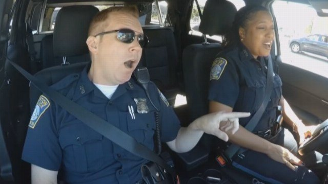 "The video is a spoof of ""Carpool Karaoke,"" a segment on the ""Late Late Show with James Corden,"" where musical guests join Corden for a joyride as they sing along to their songs. (Source: WCVB/Boston PD/CNN)"