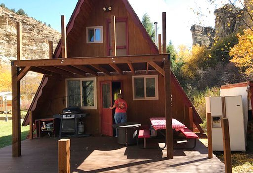 (Darren Lewis via AP). In this undated photo provided by Darren Lewis is where he and his extended family planned to spend the Fourth of July at a cabin in the Utah wilderness built nearly 50 years ago by his father and uncle, near Strawberry Reservoir...