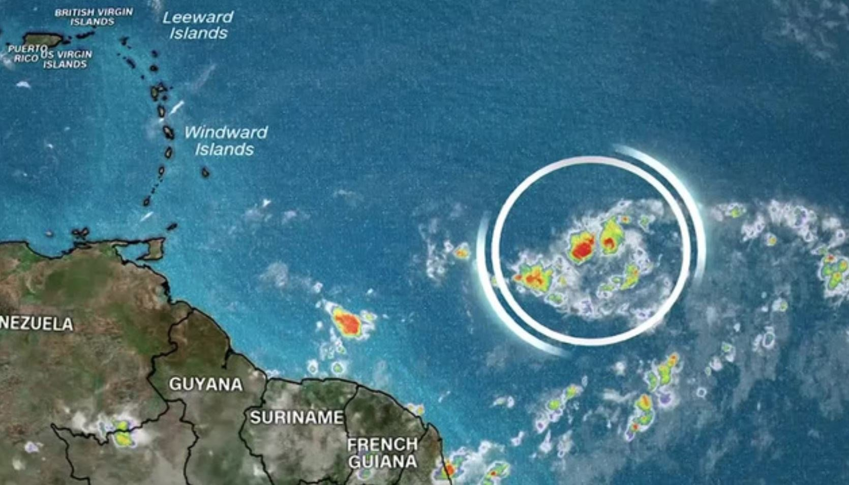 """Tiny"" Beryl became the first hurricane of the 2018 Atlantic season. (Source: CNN)"
