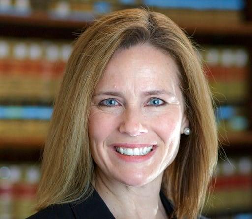 (University of Notre Dame Law School via AP). This 2017 photo provided by the University of Notre Dame Law School in South Bend, Ind., shows Judge Amy Coney Barrett.