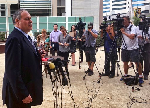 (AP Photo/ Elliot Spagat). American Civil Liberties Union attorney Lee Gelernt addresses reporters after a hearing in San Diego, Calif., Monday, July 9, 2018.