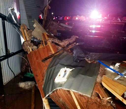 (Clifford Bowden via AP). This photo provided by Clifford Bowden shows damage early Tuesday, July 10, 2018, at an RV park in Watford City, N.D., after a violent storm whipped through the northwestern North Dakota city overnight.