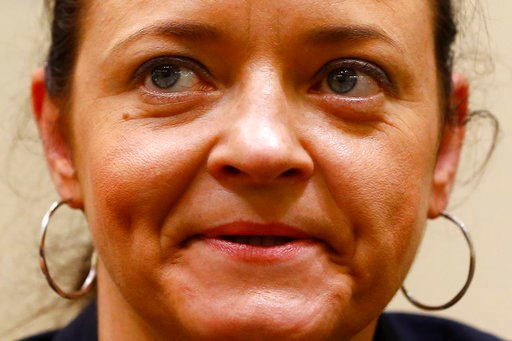 (AP Photo/Matthias Schrader, file). FILE - In this June 1, 2016 file photo terror suspect Beate Zschaepe arrives at the court room in Munich, Germany. The verdict against the only surviving member and supporters of the far-right cell NSU is expected on...