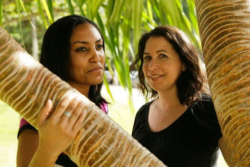 (AP Photo/Eric Risberg, File). FILE - In this Dec. 19, 2011 file photo, Taeko Bufford, left, and Diane Cervelli pose for a photo near Waikiki beach in Honolulu. A Hawaii appeals court ruling that a bed and breakfast discriminated against a couple by de...