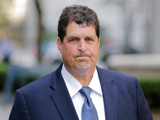 "(AP Photo/Seth Wenig). Steven Aiello arrives to federal court in New York, Thursday, July 12, 2018. A federal jury in New York has convicted key players including Aiello of corruption in Gov. Andrew Cuomo's ""Buffalo Billion"" economic redevelopment prog..."