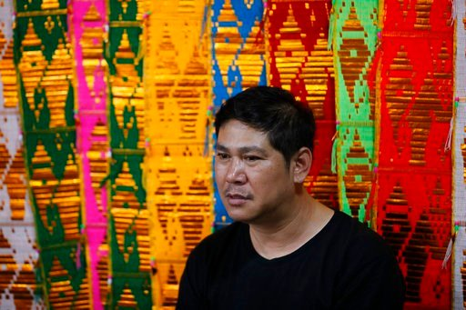(AP Photo/Vincent Thian). Banphot Konkum, father of Duangpetch Promthep, one of the rescued Thai boys, speaks during an interview in Mae Sai district in Chiang Rai province, northern Thailand, Friday, July 13, 2018. Banphot told The Associated Press hi...