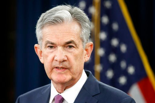 (AP Photo/Jacquelyn Martin, File). FILE- In this June 13, 2018, file photo, Federal Reserve Chair Jerome Powell speaks to the media after the Federal Open Market Committee meeting in Washington. The Federal Reserve says it expects low unemployment and ...