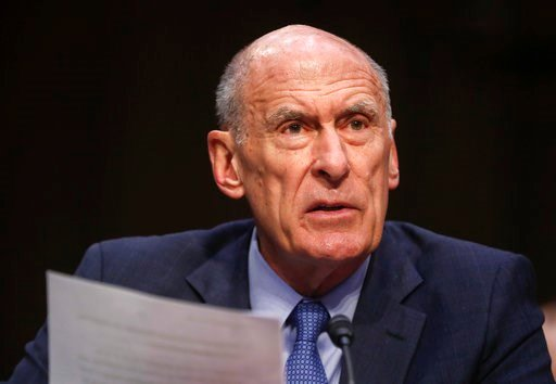 (AP Photo/Pablo Martinez Monsivais, File). FILE - In this March 6, 2018, file photo, Director of National Intelligence Dan Coats testifies before the Senate Armed Services Committee on Capitol Hill in Washington. Coats warned July 13, 2018, that cyber ...