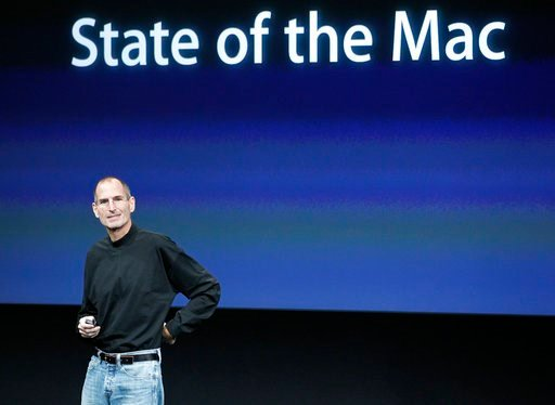 (AP Photo/Tony Avelar). In this Oct. 20, 2010 file photo, Apple CEO Steve Jobs speaks at an Apple event at Apple headquarters in Cupertino, Calif.