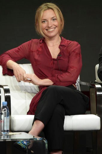 """(Photo by Richard Shotwell/Invision/AP). Perdita Weeks participates in the """"Magnum P.I"""" panel during the Television Critics Association Summer Press Tour at the the Beverly Hilton Hotel on Sunday, Aug. 5, 2018, in Beverly Hills, Calif."""
