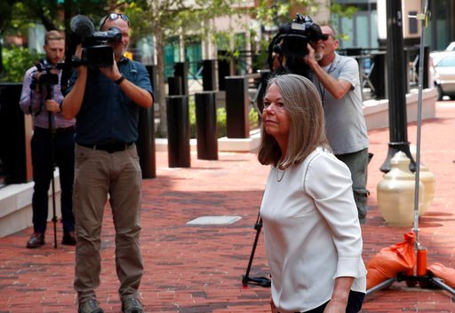 (AP Photo/Alex Brandon). Accountant Cindy Laporta arrives at the Alexandria Federal Courthouse, Monday, Aug. 6, 2018, in Alexandria, Va. to testify at President Donald Trump's former campaign chairman Paul Manafort's tax evasion and bank fraud trial.