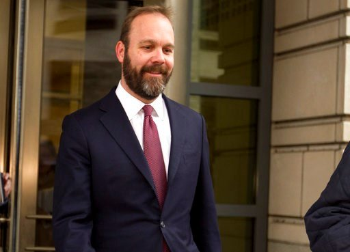 (AP Photo/Jose Luis Magana, File). FILE - In this Feb. 23, 2018, file photo, Rick Gates leaves federal court in Washington. Paul Manafort's trial opened this week with a display of his opulent lifestyle and testimony about what prosecutors say were yea...