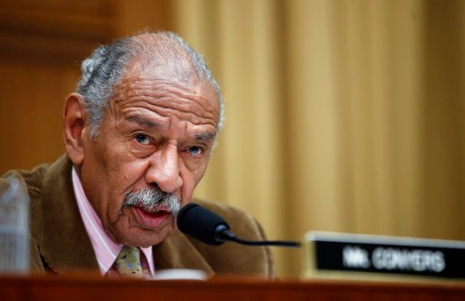 (AP Photo/Alex Brandon, File). FILE- In this April 4, 2017, file photo, Rep. John Conyers, D-Mich., speaks during a hearing of the House Judiciary subcommittee on Capitol Hill in Washington. Conyers' congressional seat will remain in a Democrat's hands...