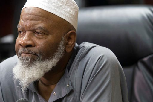 (AP Photo/Mary Altaffer). Imam Siraj Wahhaj speaks to reporters, Thursday, Aug. 9, 2018, in New York. Wahhaj, the grandfather of a missing Georgia boy,  says the remains of the child were found buried at a desert compound in New Mexico. Abdul-ghani Wah...