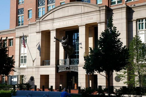 (AP Photo/Jacquelyn Martin). Federal court, where the trial of former Trump campaign chairman Paul Manafort will continue, is seen in Alexandria, Va., Wednesday, Aug. 8, 2018.