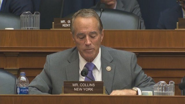 Republican U.S. Rep Chris Collins says he will no longer run for re-election after being charged with insider trading. (Source: CNN)