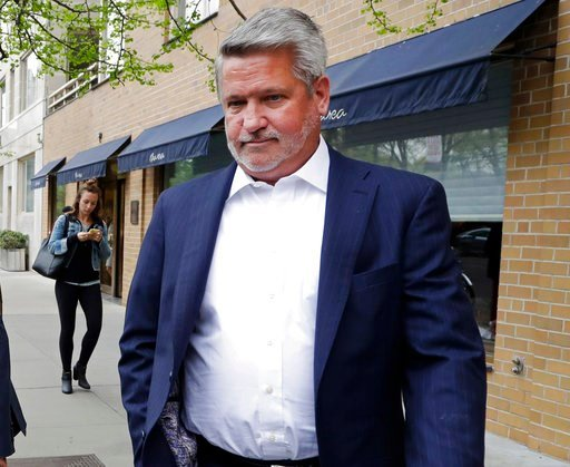 """(AP Photo/Mark Lennihan, File). FILE - In this April 24, 2017, file photo, then-Fox News co-president Bill Shine, leaves a New York restaurant. For years Shine carried out Roger Ailes' orders, earning himself the nicknamed """"the Butler"""" at Fox. Now, Shi..."""