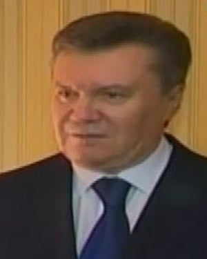 President Viktor Yanukovych was last seen in the pro-Russian Black Sea peninsula of Crimea. (Source: Espreso TV/CNN)