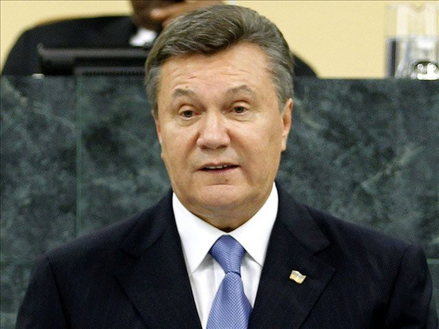 Former Ukraine President Viktor Yanukovych speaks at the United Nations on Sept. 24, 2013. (Source: UN Pho