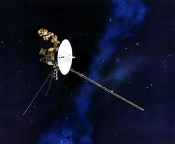 (AP Photo/NASA). This artists rendering provided by NASA shows the Voyager spacecraft.