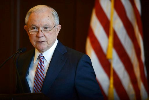 (Butch Comegys/The Times-Tribune via AP). U.S. Attorney General Jeff Sessions speaks on immigration policy and law enforcement actions at Lackawanna College in downtown Scranton, Pa., on Friday, June 15, 2018.