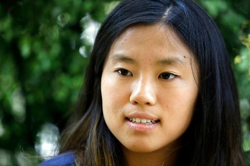 (AP Photo/Marcio Jose Sanchez). University of California student Alice Ma answers questions during an interview on the university's campus Wednesday, June 6, 2018, in, Berkeley, Calif. Ma, and other fellow students who were in Nice, France when a terro...