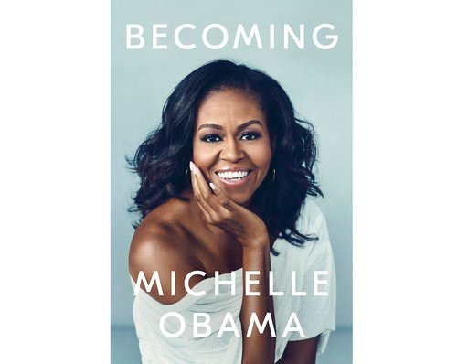 """(Crown via AP). This cover image released by Crown shows """"Becoming,"""" by Michelle Obama, available on Nov. 13. Obama will visit 10 cities to promote her memoir """"Becoming,"""" a tour featuring arenas and other performing centers to accommodate crowds likely..."""