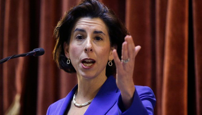 Gov. Gina Raimondo fended off a challenge from the left by former Secretary of State Matt Brown. (Source: AP Photo/Steven Senne)