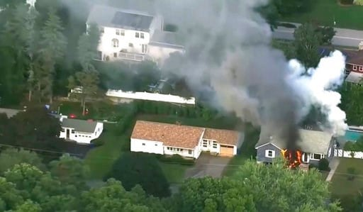 (WCVB via AP). In this image take from video provided by WCVB in Boston, flames rise from a house in Lawrence, Mass, a suburb of Boston, Thursday, Sept. 13, 2018. Emergency crews are responding to what they believe is a series of gas explosions that ha...