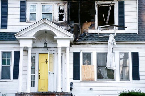 (AP Photo/Mary Schwalm). A house on Herrick Road in North Andover, Mass., is seen Friday, Sept. 14, 2018. The home was one of multiple houses that went up in flames on Thursday afternoon after gas explosions and fires triggered by a problem with a gas ...