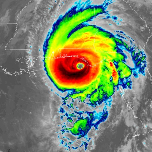 (NOAA via AP). This infrared satellite image made available by NOAA shows Hurricane Michael approaching the Florida panhandle on Wednesday, Oct. 10, 2018 at 11:40 a.m. EDT.