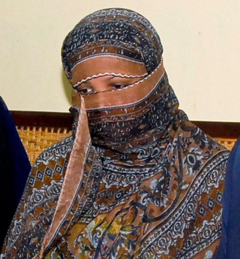 (AP Photo, File). FILE - In this Nov. 20, 2010, file photo, Aasia Bibi, a Pakistani Christian woman, listens to officials at a prison in Sheikhupura near Lahore, Pakistan. Bibi after eight years on death row for blasphemy has been freed from jail and w...