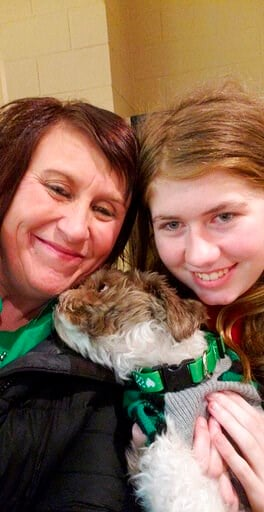 (Jennifer Smith via AP). This Friday, Jan. 11, 2019 photo shows Jayme Closs, right, with her aunt, Jennifer Smith in Barron, Wis. Jake Thomas Patterson, a 21-year-old man killed a Wisconsin couple in a baffling scheme to kidnap Jayme Closs, their teena...