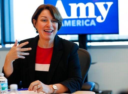f525aafd48004 (AP Photo Wilfredo Lee). Democratic presidential candidate Amy Klobuchar  speaks during a